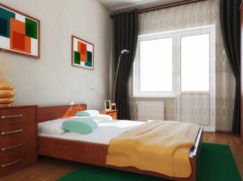 Пример меблировки спальни